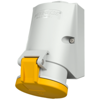 Wall mounted receptacle with TwinCONTACT