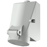 Wall mounted receptacle